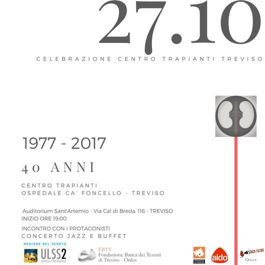 Centro Trapianti Treviso 40 Anni