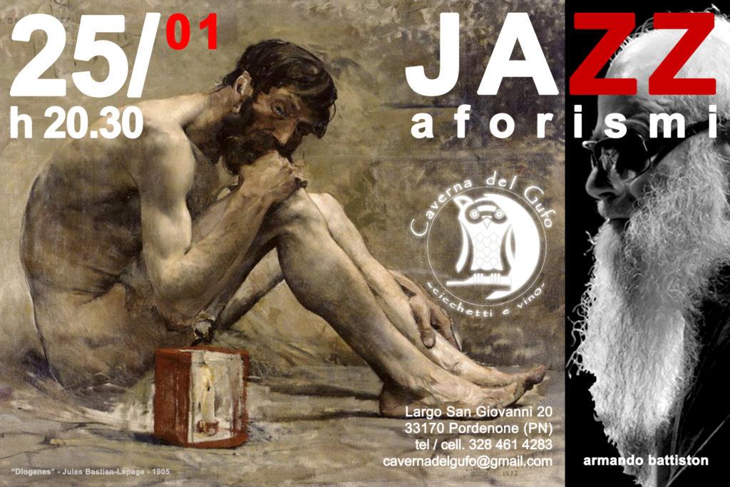 JAZZaforismi - Armando Battiston - Caverna Del Gufo - Pordenone - 25-01-2019